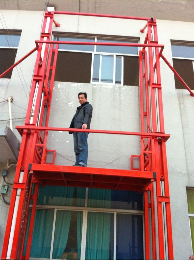 室外二层导轨链条式升降货梯